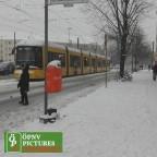 Winterlandschaft in Berlin mit Flexitytram 9005