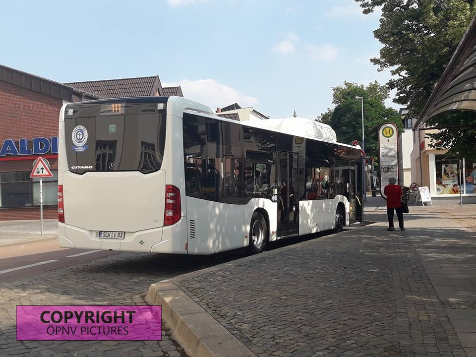 Mercedes Benz Citaro C2 am Bernburger Busbahnhof