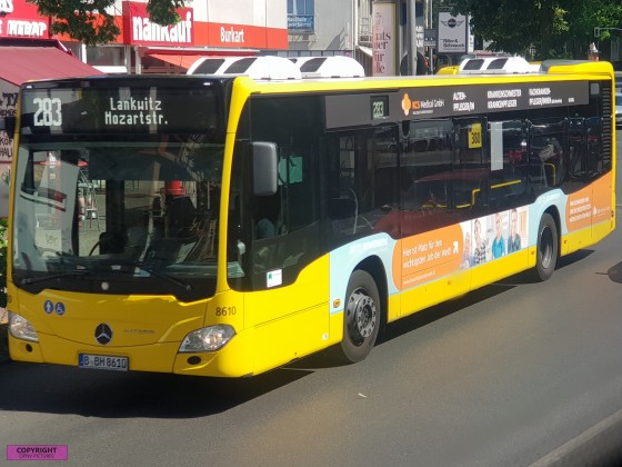Mercedes Benz Citaro C2 an der Haltestelle Lankwitz Kirche