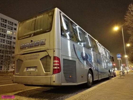 Heck des Mercedes Benz Tourismo