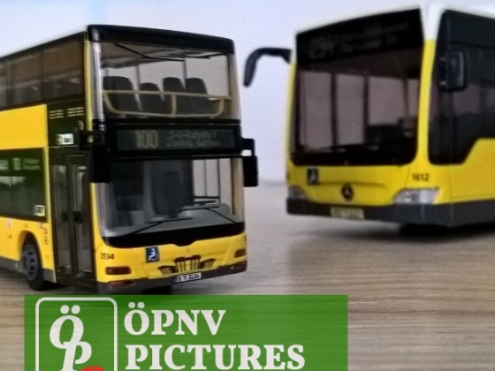 Modellbus MAN Lion's City DD und Mercedes Benz Citaro O530 Facelift