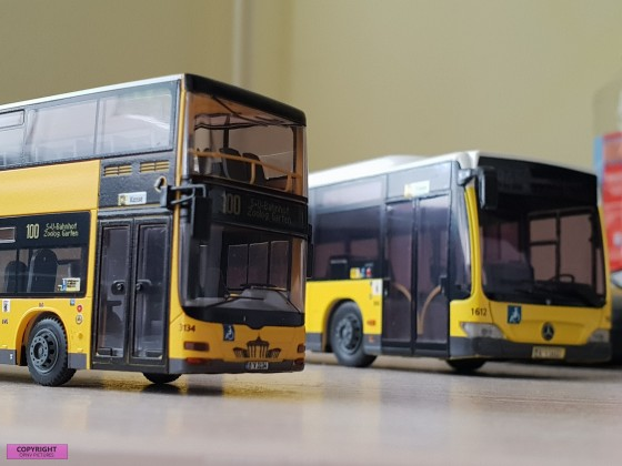 Modelbus Mercedes Benz Citaro O530 Facelift der BVG und ein MAN Lion's City Doppeldecker [1:87]