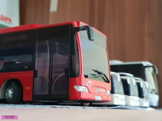 VAG Freiburg Modelbus Maßstab 1:43