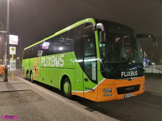 MAN Lion's Coach C am Berliner Alexanderplatz der Firma Flixbus