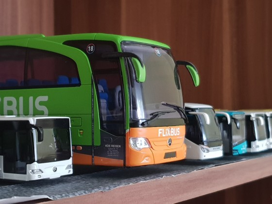 Mercedes Benz Travego von Flixbus als Model [1:43]