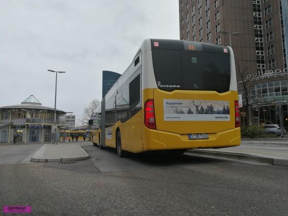 Heck des Mercedes Benz Citaro C2 G der Stuttgarter Straßenbahn AG [SSB] [3]
